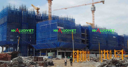Lưới bao che cho công trình đảm bảo an toàn lao động