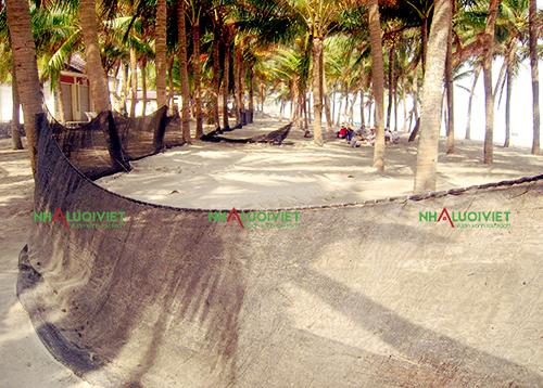 Sử dụng lưới chắn cát tại bãi biển