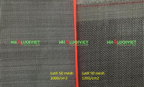 Mật độ ô của lưới làm nhà trồng rau sạch